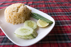 Authentic Thai fried rice taken outdoor with natural light Stock Image