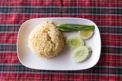 Authentic Thai fried rice taken outdoor with natural light Royalty Free Stock Photo