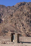 Authentic toilet in the desert Stock Images