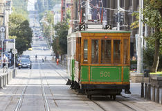 Authentic tram in Europe Stock Photos