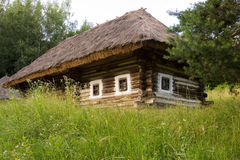 Authentic Ukrainian village house. Stock Images