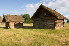 Authentic Ukrainian village house. Stock Photo