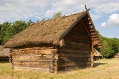 Authentic Ukrainian village house. Royalty Free Stock Photo