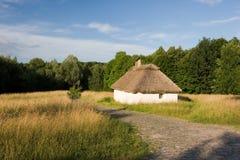 Authentic Ukrainian village house. Stock Images