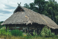 Authentic Ukrainian village house Stock Images