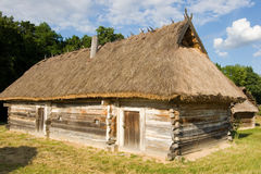 Authentic Ukrainian village house. Stock Image