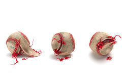 Authentic used baseball Royalty Free Stock Image