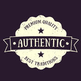 Authentic vintage emblem, vector badge Royalty Free Stock Image
