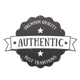 Authentic vintage emblem, vector badge Stock Photography