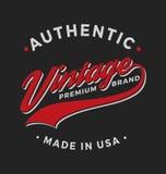 Authentic Vintage Premium Brand Apparel Design Stock Images