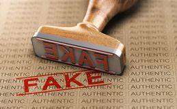 Authentic vs Fake Poduct. Counterfeit Concept vector illustration