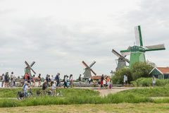 Authentic windmills in Holland Stock Photography