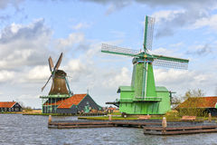 Authentic windmills in Holland Stock Photos
