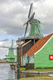Authentic windmills of the Netherlands Royalty Free Stock Photo