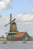 Authentic windmills of the Netherlands Royalty Free Stock Image