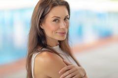 Authentic woman portrait stock photography