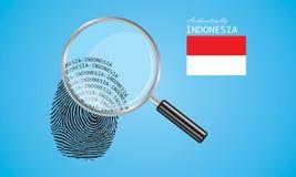 Authentically Indonezja odcisk palca ilustracja wektor