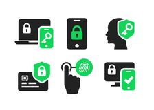Authentication icons set 02. Security identity authentication icons set 02 Royalty Free Stock Images