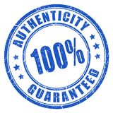 Authenticity guaranteed rubber stamp. Isolated on white background Royalty Free Stock Photo