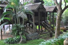 Lampung traditional house in bali royalty free stock images