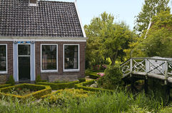 Authentiek Nederlands huis royalty-vrije stock afbeeldingen