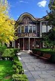 Authentiek oud huis in plovdiv Stock Foto