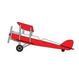 Authentiek retro vliegtuig royalty-vrije illustratie