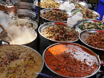 Authentiek straatvoedsel, Bangkok, Thailand stock foto's