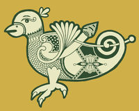 Authentieke decoratieve Keltische vogel royalty-vrije illustratie