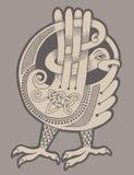 Authentieke decoratieve Keltische vogel stock illustratie