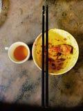 Authentieke maaltijd in Vietnam Stock Fotografie