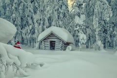 Authentieke Santa Claus in Lapland stock afbeeldingen