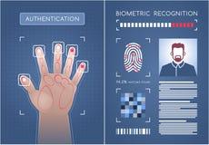 Authentification biométrique illustration libre de droits