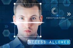 Authentification et concept permis par accès photographie stock libre de droits