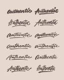 Authentisch rauen Sie Weinlesehandbeschriftungs-Typografiephrase auf vektor abbildung