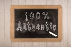 100% authentisch - Tafel Lizenzfreie Stockbilder