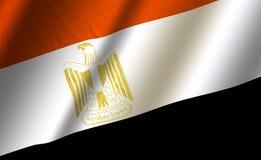 Authentische bunte Flagge von Ägypten stock abbildung