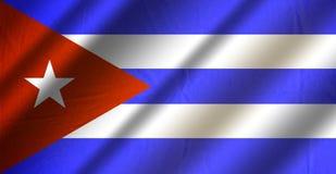Authentische bunte Flagge von Kuba lizenzfreie abbildung
