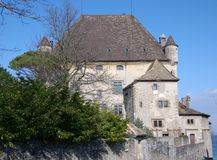 Authentische französische Villa Stockbilder