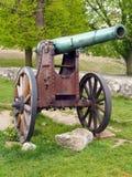 Authentische historische Kanone in Trencin, Slowakei Lizenzfreie Stockbilder