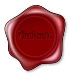 Authentische rote Wachsdichtungsabbildung Lizenzfreie Stockfotos