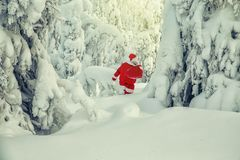 Authentische Santa Claus in Lappland stockfotos