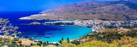 Authentische schöne griechische Inseln - Andros in den Kykladen Stockbilder