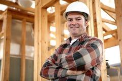 Authentischer Bauarbeiter Stockfoto