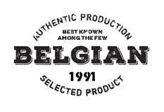 Authentischer belgischer Produktstempel Stockbild