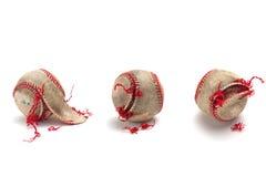 Authentischer verwendeter Baseball Lizenzfreies Stockbild