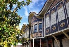 Authentisches altes Haus in Plovdiv stockfotos