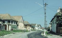 Authentisches Dorf in Osteuropa Stockbild