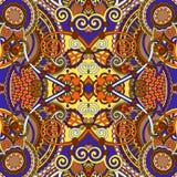 Authentisches silk quadratisches Musterdesign des Halsschals oder -halstuchs Lizenzfreie Stockbilder
