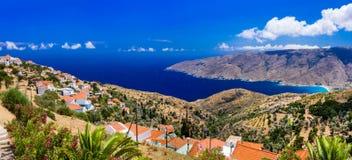 Authentisches traditionelles Griechenland - schöne Andros-Insel cyclades Lizenzfreies Stockbild